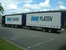 Here is Knauf's trailer lorry